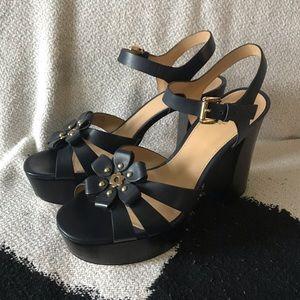 Michael Kors Tara Floral Pumps Platform Sandal